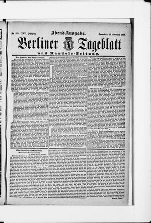 Berliner Tageblatt und Handels-Zeitung vom 10.11.1888