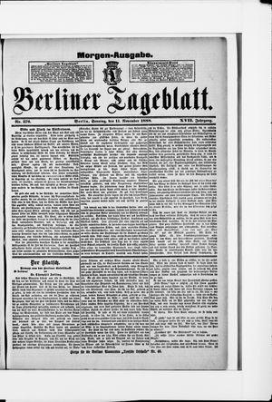 Berliner Tageblatt und Handels-Zeitung vom 11.11.1888