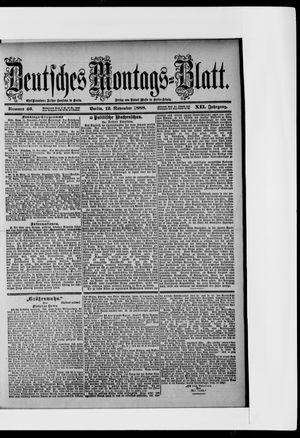 Berliner Tageblatt und Handels-Zeitung vom 12.11.1888
