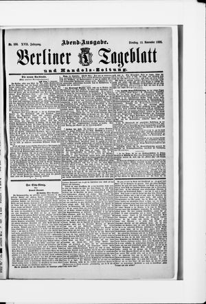 Berliner Tageblatt und Handels-Zeitung vom 13.11.1888