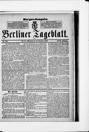 Berliner Tageblatt und Handels-Zeitung vom 14.11.1888