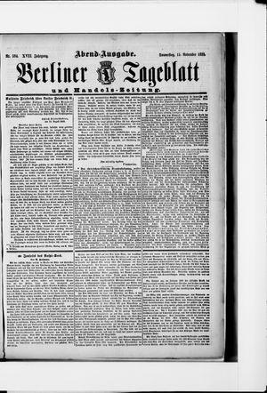 Berliner Tageblatt und Handels-Zeitung vom 15.11.1888
