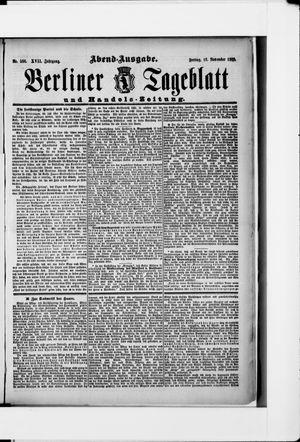 Berliner Tageblatt und Handels-Zeitung vom 16.11.1888