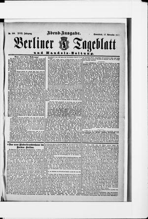 Berliner Tageblatt und Handels-Zeitung vom 17.11.1888