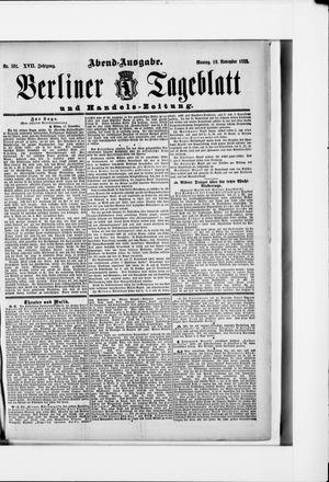 Berliner Tageblatt und Handels-Zeitung vom 19.11.1888
