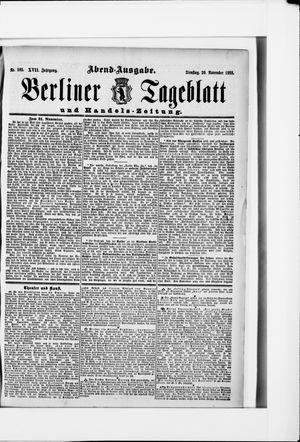 Berliner Tageblatt und Handels-Zeitung vom 20.11.1888