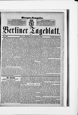 Berliner Tageblatt und Handels-Zeitung vom 21.11.1888