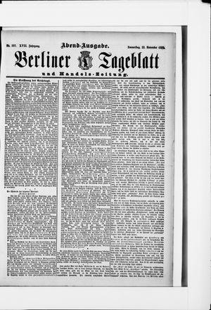 Berliner Tageblatt und Handels-Zeitung vom 22.11.1888