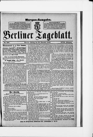 Berliner Tageblatt und Handels-Zeitung vom 23.11.1888