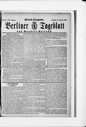 Berliner Tageblatt und Handels-Zeitung vom 24.11.1888
