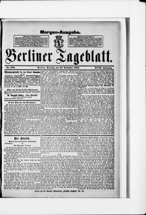 Berliner Tageblatt und Handels-Zeitung vom 25.11.1888