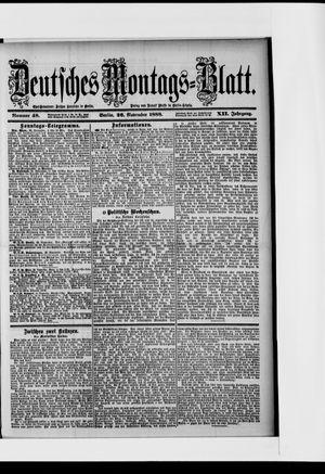 Berliner Tageblatt und Handels-Zeitung vom 26.11.1888