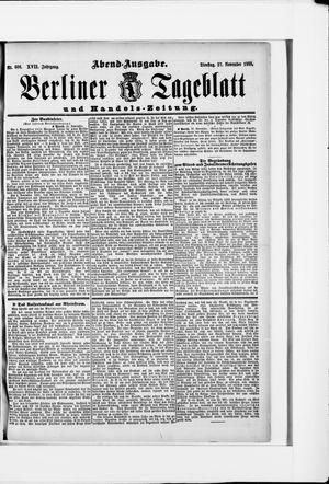 Berliner Tageblatt und Handels-Zeitung vom 27.11.1888