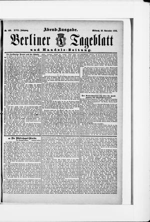 Berliner Tageblatt und Handels-Zeitung vom 28.11.1888