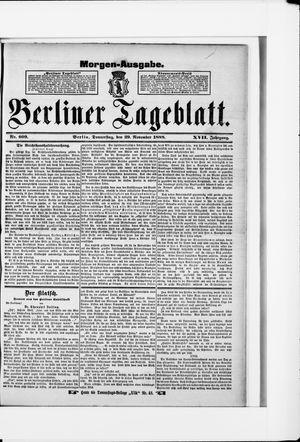 Berliner Tageblatt und Handels-Zeitung vom 29.11.1888