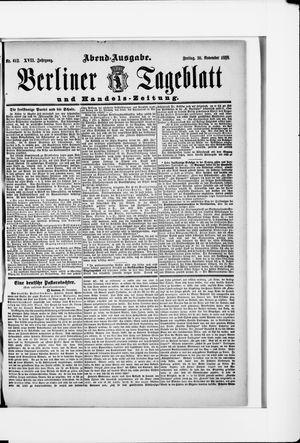 Berliner Tageblatt und Handels-Zeitung vom 30.11.1888