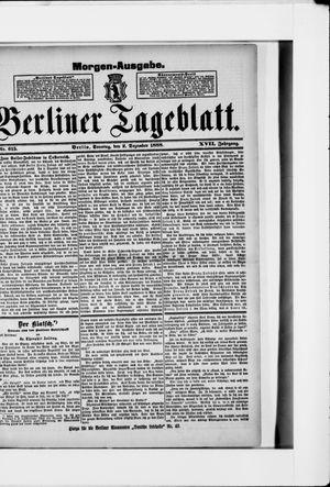 Berliner Tageblatt und Handels-Zeitung vom 02.12.1888