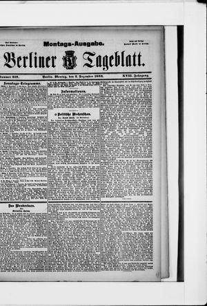 Berliner Tageblatt und Handels-Zeitung vom 03.12.1888