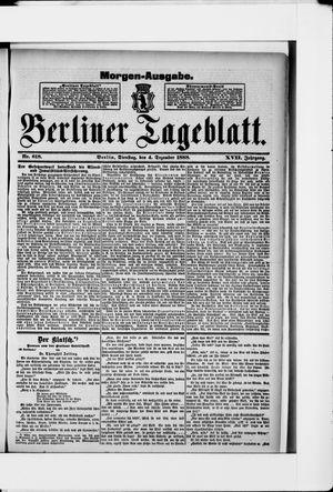 Berliner Tageblatt und Handels-Zeitung vom 04.12.1888