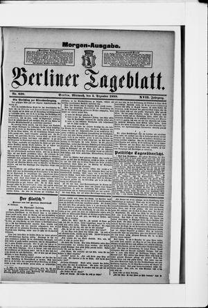 Berliner Tageblatt und Handels-Zeitung vom 05.12.1888