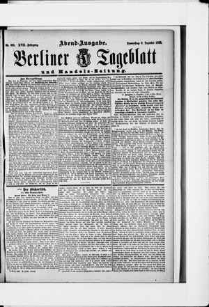 Berliner Tageblatt und Handels-Zeitung vom 06.12.1888