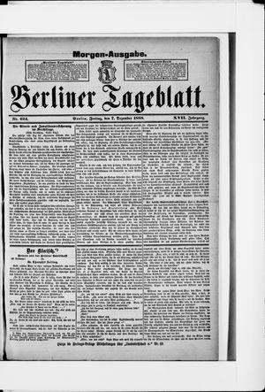 Berliner Tageblatt und Handels-Zeitung vom 07.12.1888