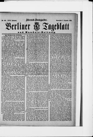 Berliner Tageblatt und Handels-Zeitung vom 08.12.1888