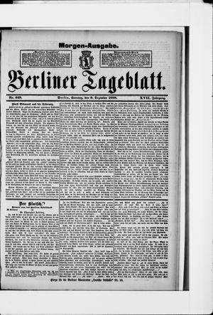 Berliner Tageblatt und Handels-Zeitung vom 09.12.1888