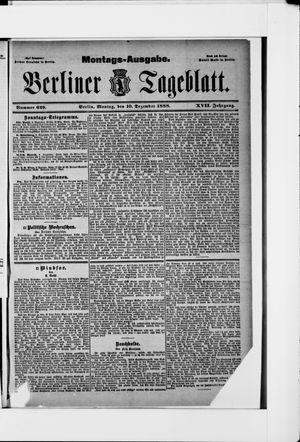 Berliner Tageblatt und Handels-Zeitung vom 10.12.1888
