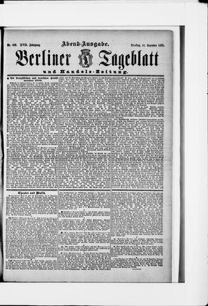 Berliner Tageblatt und Handels-Zeitung vom 11.12.1888