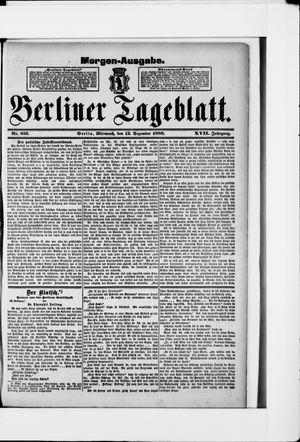 Berliner Tageblatt und Handels-Zeitung vom 12.12.1888