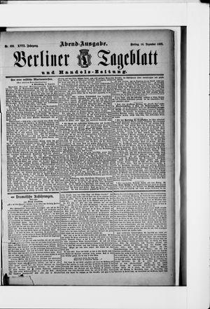 Berliner Tageblatt und Handels-Zeitung vom 14.12.1888