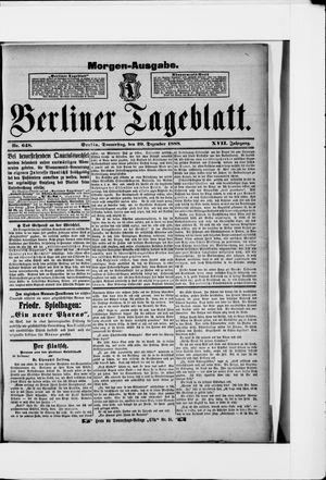 Berliner Tageblatt und Handels-Zeitung vom 20.12.1888