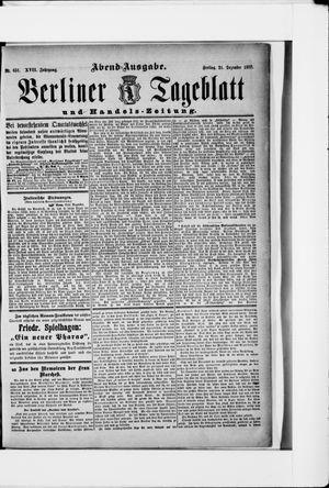 Berliner Tageblatt und Handels-Zeitung vom 21.12.1888