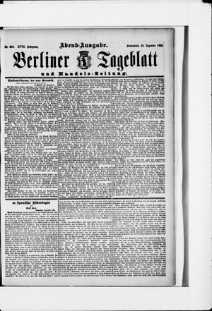 Berliner Tageblatt und Handels-Zeitung on Dec 22, 1888