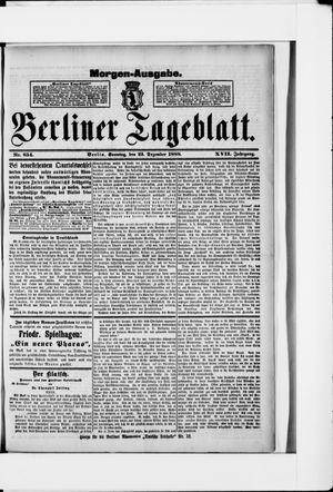Berliner Tageblatt und Handels-Zeitung vom 23.12.1888