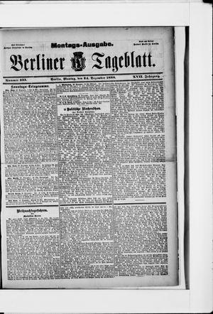 Berliner Tageblatt und Handels-Zeitung vom 24.12.1888