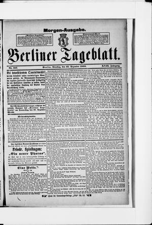 Berliner Tageblatt und Handels-Zeitung vom 25.12.1888