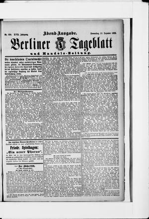 Berliner Tageblatt und Handels-Zeitung vom 27.12.1888