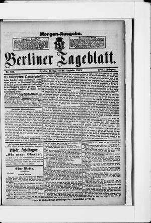 Berliner Tageblatt und Handels-Zeitung vom 28.12.1888