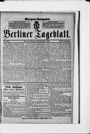 Berliner Tageblatt und Handels-Zeitung vom 30.12.1888