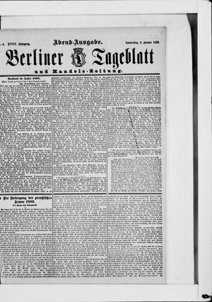 Berliner Tageblatt und Handels-Zeitung vom 02.01.1889