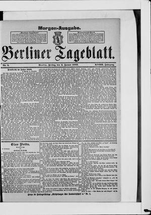 Berliner Tageblatt und Handels-Zeitung on Jan 4, 1889