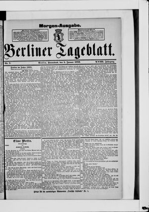 Berliner Tageblatt und Handels-Zeitung on Jan 5, 1889