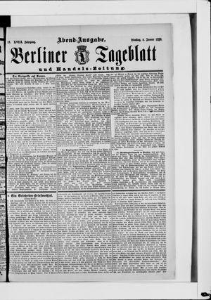 Berliner Tageblatt und Handels-Zeitung vom 08.01.1889