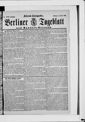 Berliner Tageblatt und Handels-Zeitung vom 09.01.1889