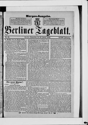 Berliner Tageblatt und Handels-Zeitung vom 10.01.1889