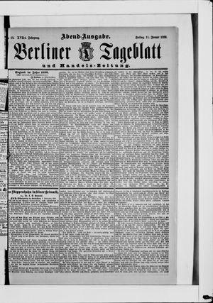 Berliner Tageblatt und Handels-Zeitung vom 11.01.1889