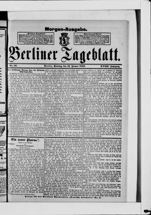 Berliner Tageblatt und Handels-Zeitung vom 13.01.1889