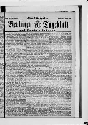 Berliner Tageblatt und Handels-Zeitung on Jan 14, 1889